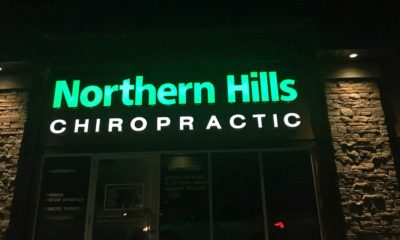 Northern Hills Chiropractic Exterior At Night | North Calgary Chiropractor in Panorama Hills